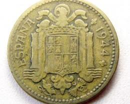 SPAIN 1944  1 PESTA COIN    CO 1297