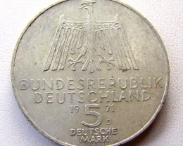 1971 5 M .625 SILVER  COIN    CO 1299