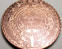 Aztec end is near 2012  .999 pure copper one ounce RT 590