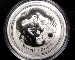 2012 AUSTRALIAN  HALF OUNCE DRAGON SILVER   COIN