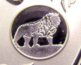 2012 AUSTRALIAN  DRAGON  SILVER   COIN LION PRIVY