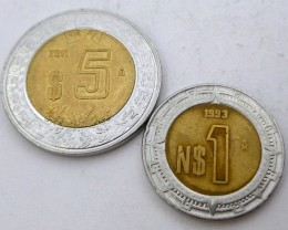 PARCEL 2 BI METAL COINS S COIN J 1985