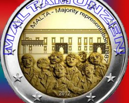 "2012 Malta €2 Commemorative Coin ""1887 Majority"" - PROOF"
