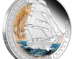 SHIPS THAT CHANGED THE WORLD - CUTTY SARK 2012 1OZ SILVER PR
