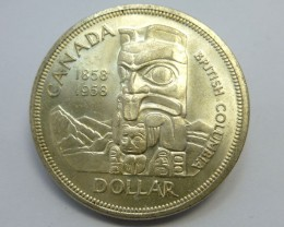 1958 CANADIAN ONE DOLAR 800 SILVER COIN CO 906
