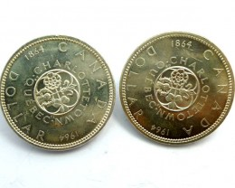 PAIR  1964 UNC CANADIAN BULLION INVESTMENT COINS CO912