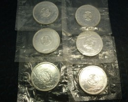SIX 1964 UNC CANADIAN BULLION INVESTMENT COINS CO916