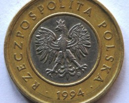 Poland 2 Zlote 1994 Bi-metal Y#283