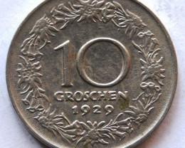 Austria 10 Groschen 1929 KM#2838