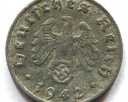 Germany 1 Reichspfennig 1942 G RARE! KM#97