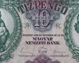 Hungary Tíz (10) Pengő 1936. Pick 100