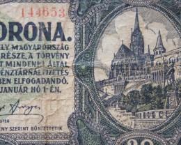 Hungary Húsz (20) Korona 1920. Pick 61