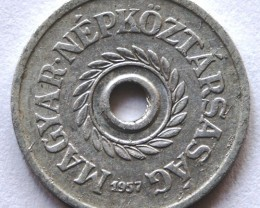 Hungary 2 fillér 1957 KM#546