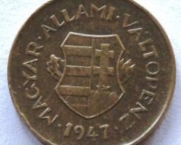 Hungary 2 Fillér 1947 KM#529