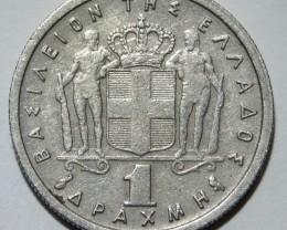 Greece 1 Drachma 1959 Paul I. KM#81