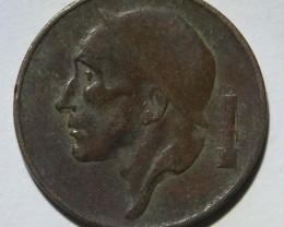 Belgium 50 Centimes-Baudouin I. 1955 KM#144