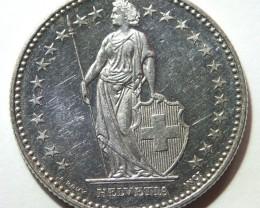 Switzerland 2 Franken 1994 KM#21a