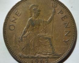 United Kingdom 1 Penny-Elizabeth II. 1962 KM#897