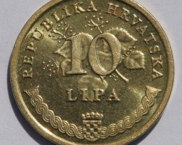 Croatia 10 Lipa (Croatian text) 2007 KM#6