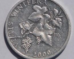 Croatia 2 Lipe (Latin text) 2000 KM#14