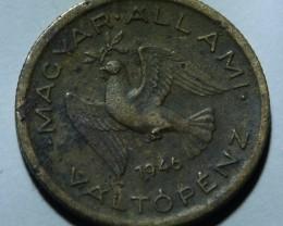 Hungary 10 Fillér 1946 Rare KM#530