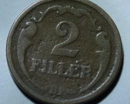 Hungary 2 Fillér 1926 Kingdom of Hungary KM#506