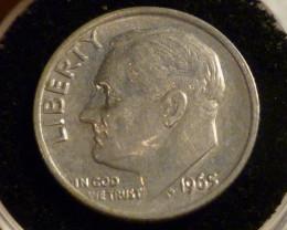 US Dime coins