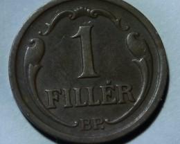 Hungary 1 Fillér 1936 Kingdom of Hungary KM#505