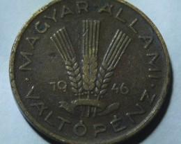 Hungary 20 Fillér 1946 RARE KM#531