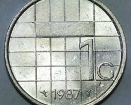 Netherlands 1 Gulden-Beatrix 1987 KM#205