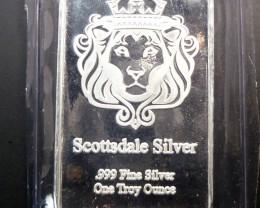 Scottsadle Silver Bar 1oz 999.9 Fine Silver  CO9
