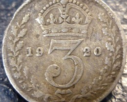 1920 THREEPENCE     SILVER COIN CO 1409