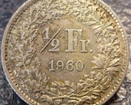 1960 1/2 FRANC .835  SILVER COIN CO 1415