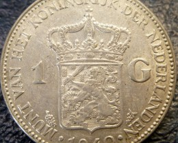 1940 HOLLAND  1 G 720     SILVER COIN CO 1422