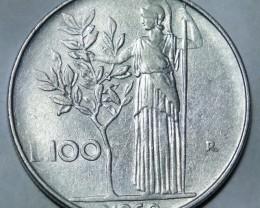 Italy 100 Lire (large type) 1960 R KM#96.1