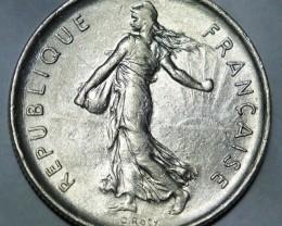 "France 5 Francs 1971 signature ""O.Roty"" KM# 926a.1"