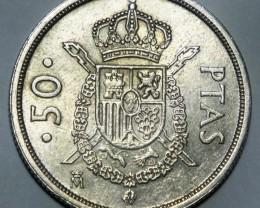 Spain 50 Pesetas 1983  Juan Carlos I. KM#825