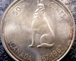 1967 HOWLING WOLF 50 CENTS SILVER  CO 1450