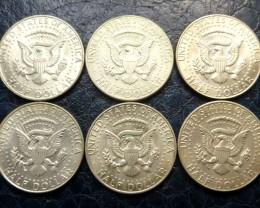 PARCEL 1966 KENNEDY /JFK HALF SILVER DOLLAR  SILVER  CO 1470