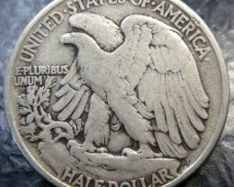 1942 SILVER WALKING LIBERTY HALF DOLLAR  CO 1486