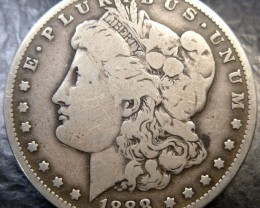 1888 MORGAN DOLLAR SILVER COIN   CO1498