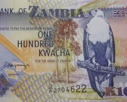 Zambia 100 Kwacha 2001 UNC