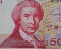 Croatia 50000 Dinara 1993 UNC