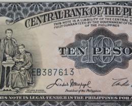 Philippines 10 Pesos 1949 UNC