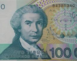 Croatia 100000 Dinara 1993 UNC