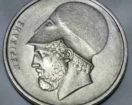 Greece 20 Drachmes 1982 (new lettering) KM#133