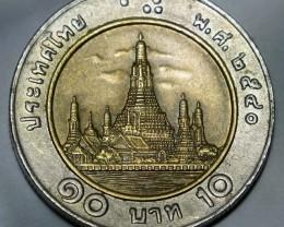 Thailand 10 Baht-Rama IX (Wat Arun) 2540 (1997) Y#227