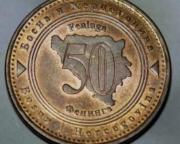 Bosnia and Herzegovina 50 Feninga 2007 KM#117