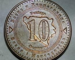 Bosnia and Herzegovina 10 Feninga 2004 KM#115