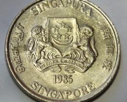 Singapore 20 Cents 1985 KM#52